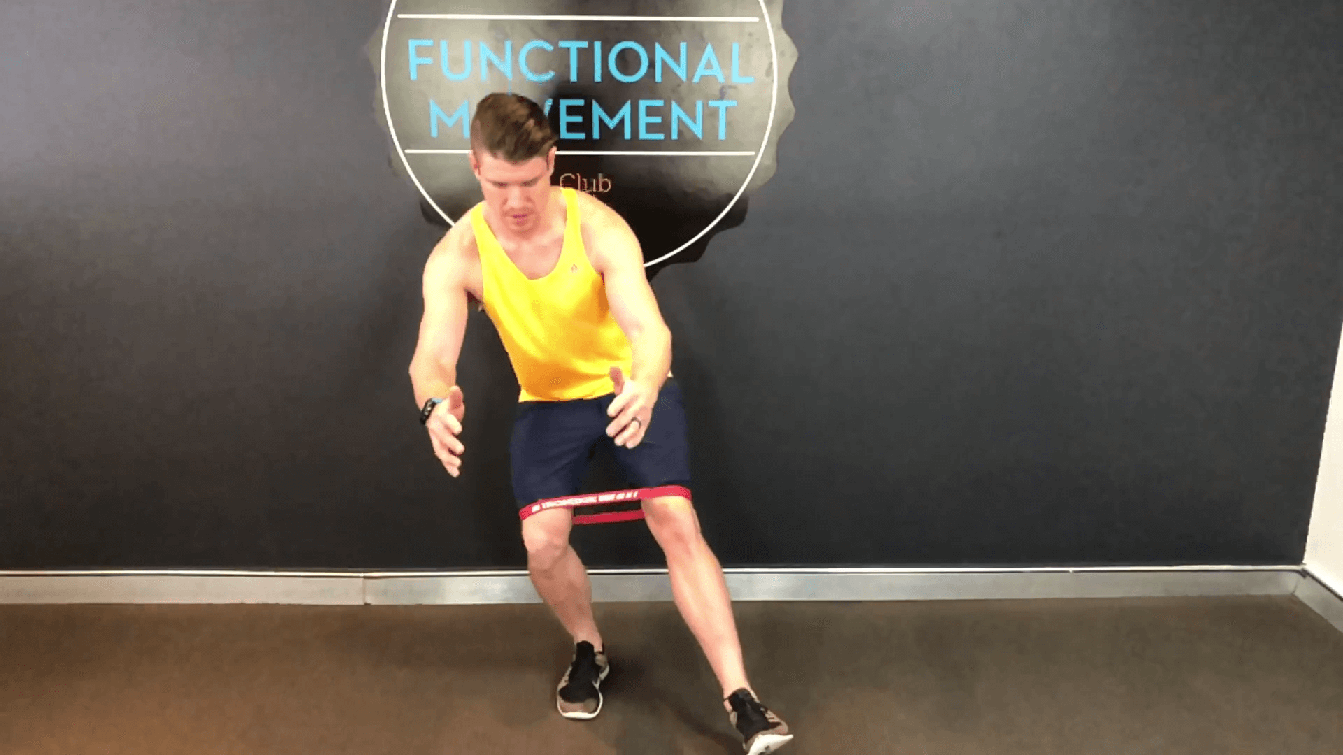 SIngle Leg squats to help with your glute activation by your physio in brookvale